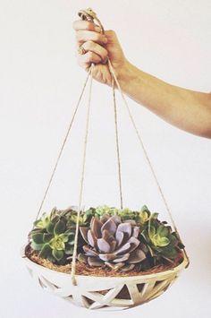 Structured Ceramic Planter | Etsy