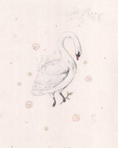 Swan Prize Original Painting by Sarah McNeil for $180 via etsy.com #christmas #giftideas #editorspick