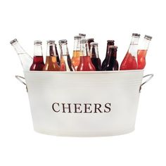 Country Home: Galvanized Cheer Tub - -  #wine #winequotes #winehumor #hostessgift #country #home #entertaining #barbeque