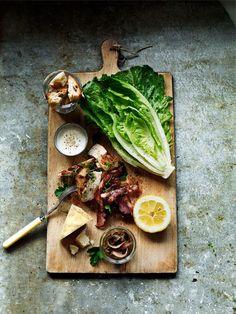 Deconstructed caesar salad | styled by Linda Lundgren // Agent Bauer