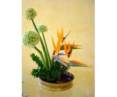 How to Create an Ikebana Flower Arrangement - Easy to follow steps with photos