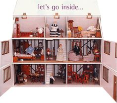 Doll House  - My Mom , Omi and Grammy and Becky all worked on getting my doll house together.