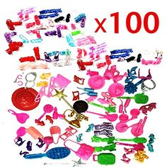 ZHIHU 100pcs High Different barbie accessories for Barbie doll Xmas Gift High Heel Shoes  accessories >>> Check out the image by visiting the link.