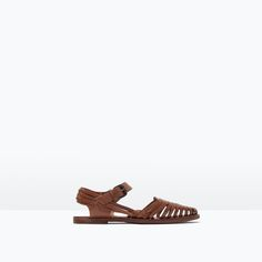 ZARA - SHOES & BAGS - WOVEN LEATHER SHOES