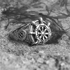 """This helm ring from @ClocksAndColours is for those who have what it takes to steer the ship. Set sail for CLOCKSANDCOLOURS.COM to see their full range of handcrafted Nautical rings, bracelets and pendants [Worldwide Shipping Available]. Use promo code """"STNOV15"""" to get 15 OFF your next purchase with @ClocksAndColours"""