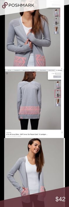 NWT ivivva cardigan 14 Brand new, with tags Ivivva 'Go places' cardi. Open cardigan. Ivivva is the youth line of lululemon. This cardigan is a girls 14 but is comparable to a lululemon 4, even a 6. Retail $72 Ivivva Shirts & Tops Sweaters