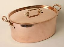 """Oval Casserole and Cover circa 1870's uncommon size 14"""" long x 6"""" high"""