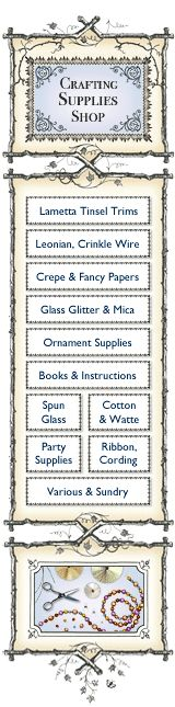 Crafting Supplies Shop: Craft Trims, Old-Style Supplies and Tools on Blumchen.com