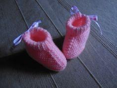 Chaussons bébé coloris rose fleuri : Mode Bébé par logique