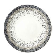 Stellina Assiette plate D27cm en grès décoré bleu, gris et blanc