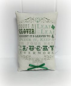 St. Patrick's Day pillow by CozyExpressions on Etsy
