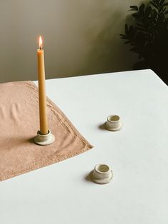 Ceramic Desert Sand Candlestick Holder — Made exclusively for Innerspacism by Olivia Rochelle Henrie. Diy Clay, Clay Crafts, Ceramic Pottery, Ceramic Art, Slab Pottery, Ceramic Bowls, Stoneware, Clay Candle Holders, Keramik Design
