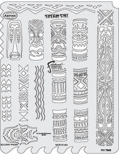 Totem Tiki, Artool stencil FHTM5, by Dennis Mathewson.