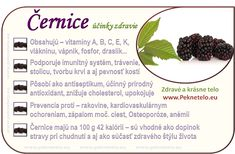 obrazok cernice Fruit Facts, Wellness, Organic Beauty, Cholesterol, Planer, Natural Health, Detox, Food And Drink, Health Fitness