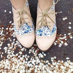 Floral oxfords - So cute!