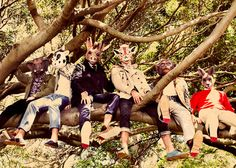 i want an animal mask and tree hut party