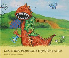 Digitaal prentenboek sjakie-de-kleine-dinodrachus-en-de-grote-tyrelierus-rex dieren, familie, groot en klein