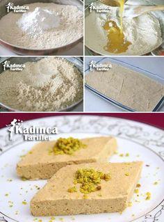 Saray Halva recipe, how to, Delicious Cake Recipes, Yummy Cakes, Gourmet Recipes, Halva Recipe, Turkish Sweets, Potato Cakes, Turkish Recipes, Mets, Food Cakes