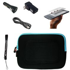 "Blue/Black Sleeve with Interior Fur Padding for Amazon Kindle Wireless Reading Device, Wi-Fi, 6"" Display 3rd Generation + Includes a anti glare screen protector and Data Sync Cable + Includes a Black USB Travel Car Charger and a Black Home USB Charger by eBigValue. $27.94. Cover Sleeve with Interior Fur Padding for Amazon Kindle 3 Protection for your tablet. Comes with two way zipper opening, small accessory pocket inside, and cover edges to keep Galaxy secure. Light weight for h..."