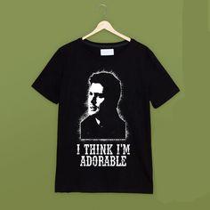 f35295291db Dean Winchester  I Think I m Adorable  Funny Supernatural T Shirt In Black  Men S Funny Harajuku T-shirt Top Tees The New