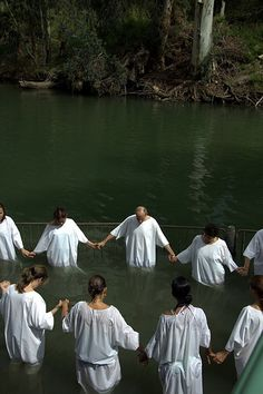 Baptism in the River Jordan . Israel