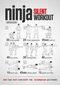 Ninja Workout and other superhero/SF character themed workouts!
