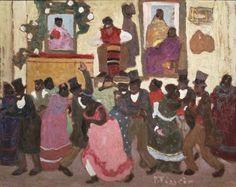 Uruguay Candombe, óleo sobre cartón de Pedro Figari (1861-1938).