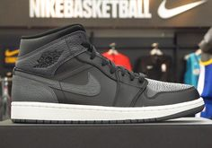 The Air Jordan 1 Mid Appears In Attractive Tumbled Leather 554724-041 #thatdope #sneakers #luxury #dope #fashion #trending
