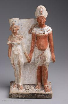 Akhénaton et Néfertiti après 1345 avant J.-C. (après l'an 9 du règne)