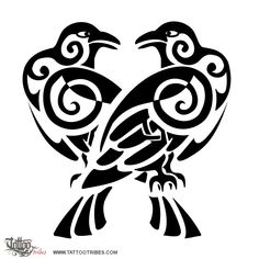 hugin and munin tattoo - Google Search