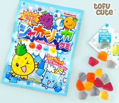 Buy Kabaya Shaka Shaka Gummy Sweets with Magic Powder at Tofu Cute Japanese Snacks, Japanese Candy, Japanese Sweets, Japanese Food, Asian Snacks, Toy House, Candy Store, Food Themes, Toys For Girls