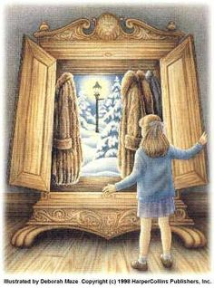 Illustration (1998) by Deborah Maze for CSL's The Lion, the Witch and the Wardrobe.