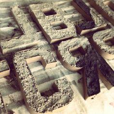 DIY Concrete Accent Letters