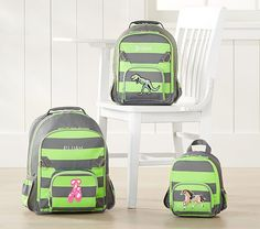Fairfax Lime/Gray Stripe Backpack
