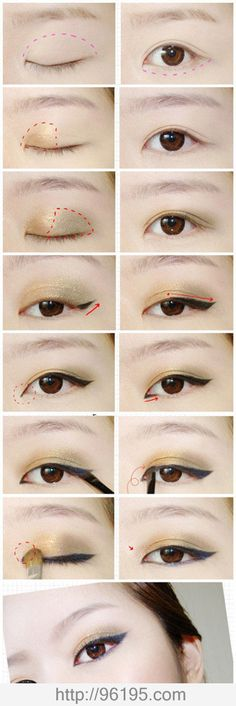 Eye make up tutorial (I like this one because it's shows you where to put the colors)