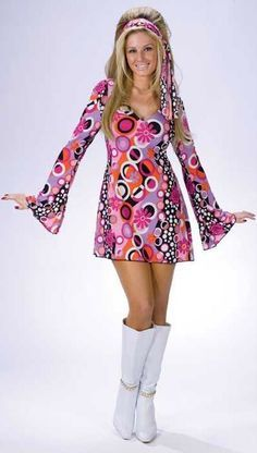 Adult Feelin' Groovy Go Go Dress - 60's and 70's Costumes - Candy Apple Costumes