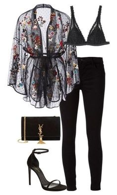 Fashion Outfits Fashion pants Fashion outfits Lace kimono Going out outfits - Luxury black outfit Classy and cute - Outfit Chic, Chic Outfits, Inspired Outfits, Fall Outfits, Fashion Outfits, Womens Fashion, Latest Fashion, Outfits Fiesta, Fashion Pants