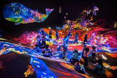 「チームラボ ジャングルと学ぶ!未来の遊園地」渋谷で開催 - 光のアートに包まれる体験型音楽フェス | ファッションプレス