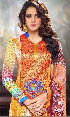 Khazanakart Heavy Worked Saree, Shimmer Bhagalpuri Silk and Net Saree in Beige and Blue Color