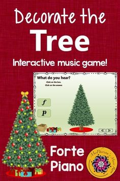 Elementary music melody game perfect for December and around Christmas! Your classes will love the interactive game while reviewing dynamics (loud soft)! Watch their eyes light up when the tree becomes decorated on the correct answer!