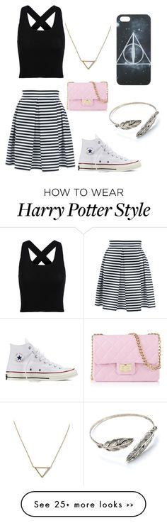 """Untitled #17"" by bubblegumrocks123 on Polyvore featuring Jane Norman, Converse, Banana Republic and Design Inverso"