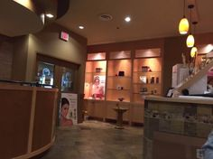 View of the counter area from our waiting seats, AquaTerre Spa, Parksville, MB