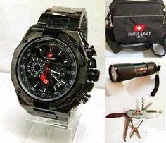 Jam Tangan Swiss Army 9868 Full Black   RP 830 c8fcbc01cb