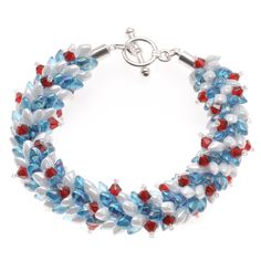 #Tutorial - How to: Wreath of Independence #Kumihimo #Bracelet | Beadaholique