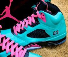 finest selection da0d5 fc602 Pink and blue Micheal Jordans  23 ) Jordans Girls, Nike Air Jordans,