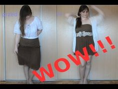 Do You have some too big clothes or stuff that You don't like anymore? Maybe You should wear them in a different way! In this episode Wiolka shows how to make a lovely summer dress. Cheer Skirts, How To Make, How To Wear, Summer Dresses, Big, Clothing, Fashion, Outfits Fo, Moda
