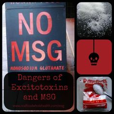 MSG is a dangerous food additive that can cause serious side effects. Reading labels? MSG can have over 40 hidden names. Read more at http://www.realfoodwholehealth.com/msg