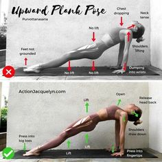 Upward plank #YogaSequences