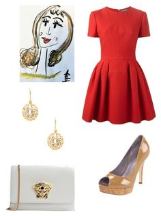 """Set 5...November 20th."" by liz957 ❤ liked on Polyvore featuring Alexander McQueen, Cole Haan, Azaara, Versace, ootd, topset, bestofpolyvore and polyvorefashion"