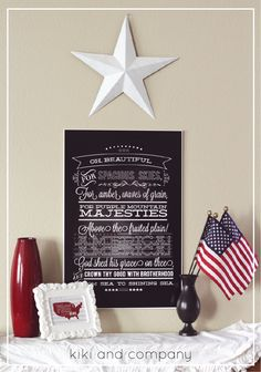 LOVE this fourth of July print at Kiki and Company. Comes in BIG sizes too! patriotic party, craft, 4th printabl, fourth of july, juli decor, 4th of july, chalkboard, independence day, parti